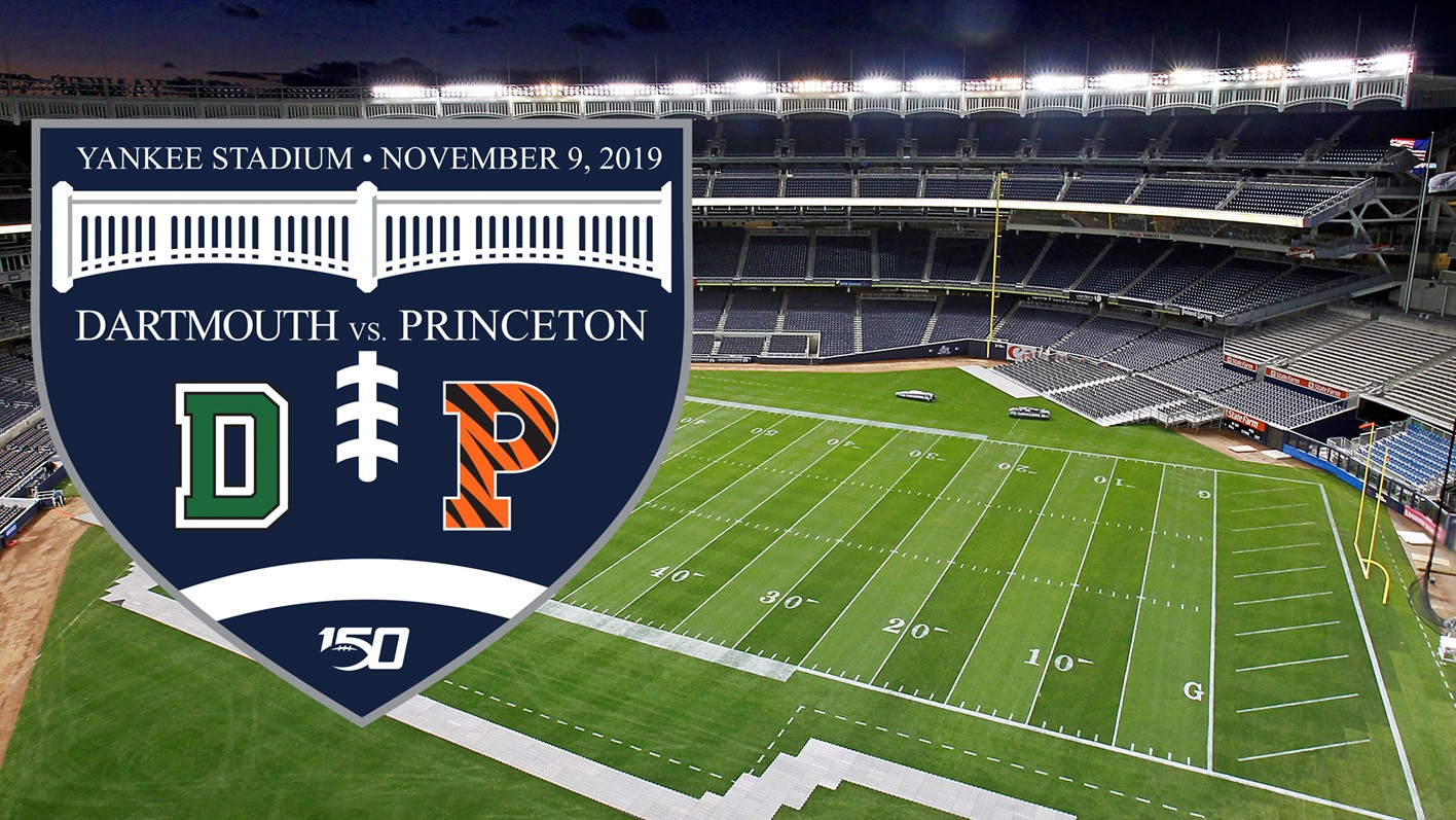 Tickets on sale for 2019 yankee stadium game between ivy champ princeton dartmouth tigers football